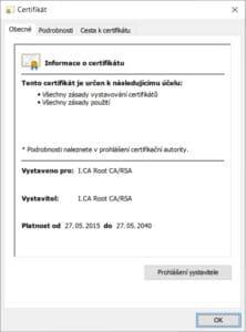 Certifikát ICA